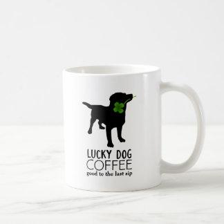 Funny Irish St. Patrick's Day Black Lab Lucky Dog Basic White Mug