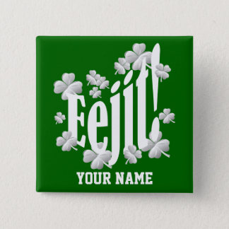 Funny Irish  text 15 Cm Square Badge