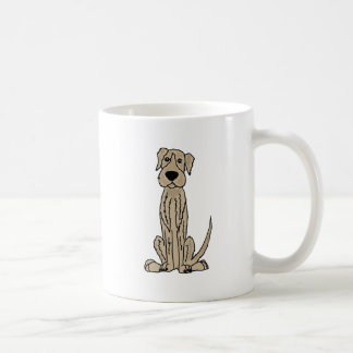 Funny Irish Wolfhound Puppy Dog Art Coffee Mug
