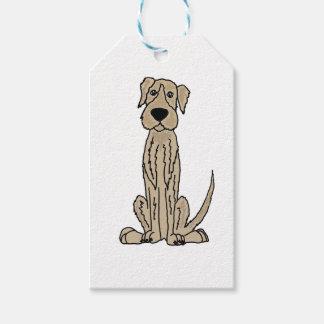 Funny Irish Wolfhound Puppy Dog Art Gift Tags