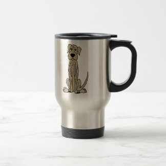 Funny Irish Wolfhound Puppy Dog Art Travel Mug