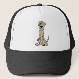 Funny Irish Wolfhound Puppy Dog Art Trucker Hat