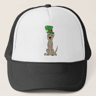 Funny Irish Wolfhound St. Patrick's Day Art Trucker Hat