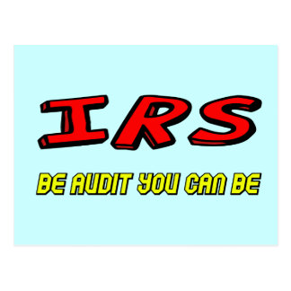 Funny IRS Audit T-shirts Gifts Postcards