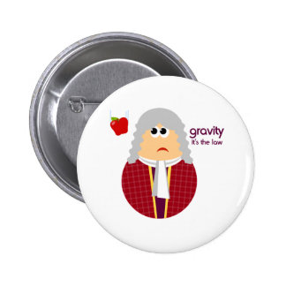 Funny Isaac Newton Button