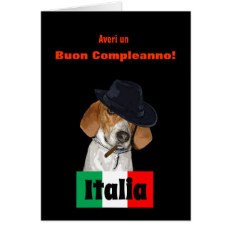 Funny Italian Birthday Mobster Charley Dog Card