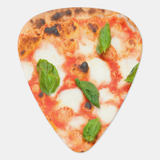 funny italian margherita pizza slice guitar pick