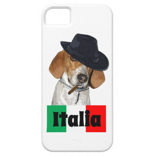 Funny Italian Mobster Charley Dog iPhone 5 Case