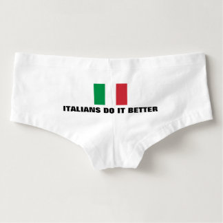 Funny italians do it better womens flag underwear hot shorts