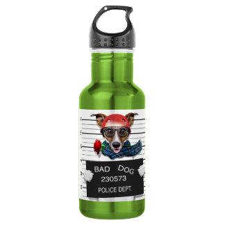 Funny jack russell ,Mugshot dog 532 Ml Water Bottle