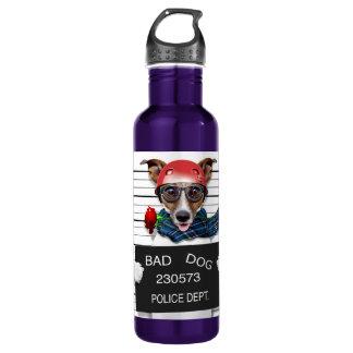 Funny jack russell ,Mugshot dog 710 Ml Water Bottle
