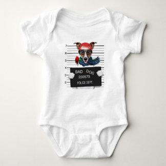 Funny jack russell ,Mugshot dog Baby Bodysuit