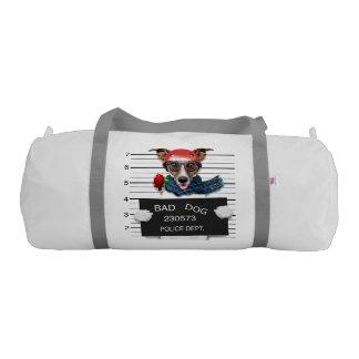 Funny jack russell ,Mugshot dog Gym Bag
