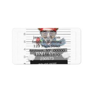 Funny jack russell ,Mugshot dog Label