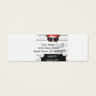 Funny jack russell ,Mugshot dog Mini Business Card
