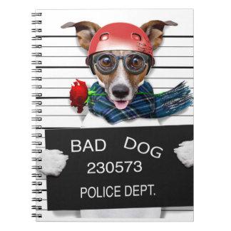 Funny jack russell ,Mugshot dog Notebook