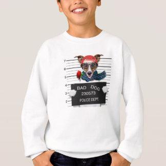 Funny jack russell ,Mugshot dog Sweatshirt