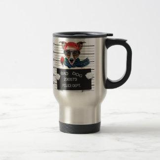 Funny jack russell ,Mugshot dog Travel Mug