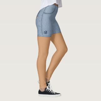 "Funny Jeans ""Shorts"" Leggings"