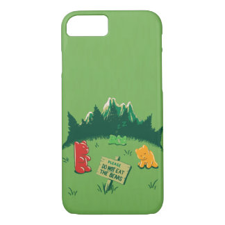 Funny Jelly Bears at Mountains iPhone 7 Case