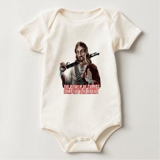 Funny jesus baby bodysuit