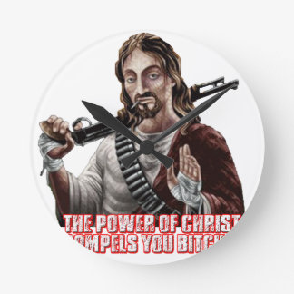 Funny jesus round wallclocks