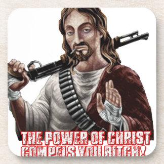 Funny jesus drink coasters