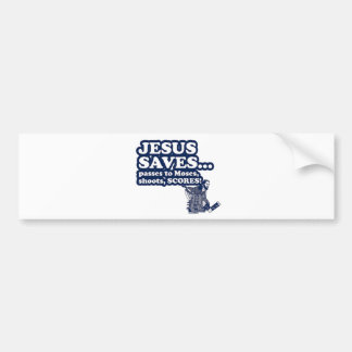 Funny Jesus Hockey Bumper Sticker