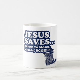 Funny Jesus Hockey Coffee Mug