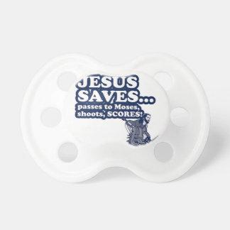Funny Jesus Hockey BooginHead Pacifier