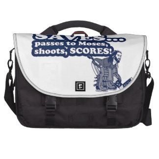 Funny Jesus Hockey Commuter Bags