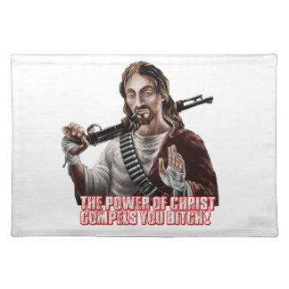 Funny jesus cloth place mat