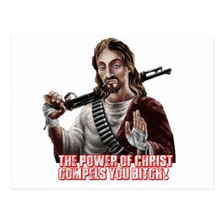 Funny jesus postcard