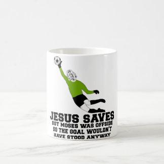 Funny Jesus saves Basic White Mug