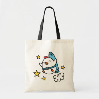 Funny Jetpack Chicken Design Tote Bag