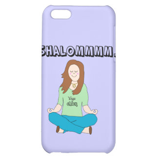 Funny Jewish Yoga Chick Shalommm iPhone 5C Cases