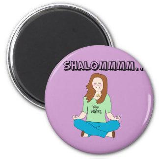 Funny Jewish Yoga Chick Shalommm Fridge Magnets