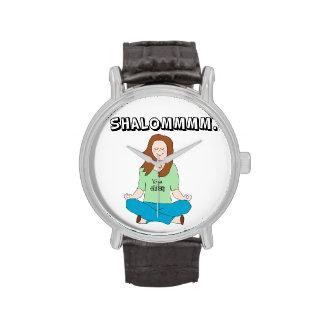Funny Jewish Yoga girl Wrist Watch