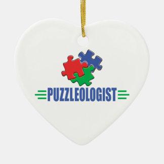 Funny Jigsaw Puzzle Ceramic Ornament