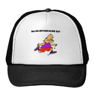 Funny Jogging Hippo Cartoon Cap
