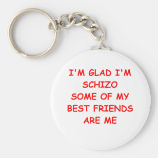 funny joke for you basic round button key ring