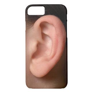 Funny Joke Humorous Left Ear Photo Illusion iPhone 7 Case