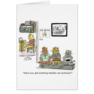 Funny Julius Katz the cat graduation greeting card