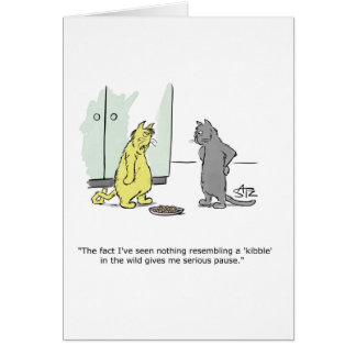Funny Julius Katz the cat greeting card