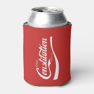 Funny July 4th Independence Day Enjoy Constitution Can Cooler