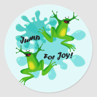 Funny Jump for Joy Frog Sticker