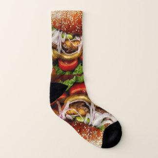 funny junk food cheese burger Hamburger Socks