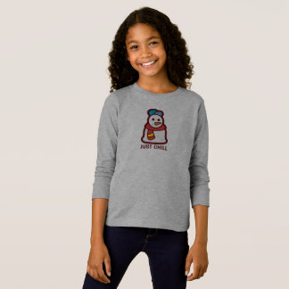 Funny Just Chill Snowman   Sleeve Shirt