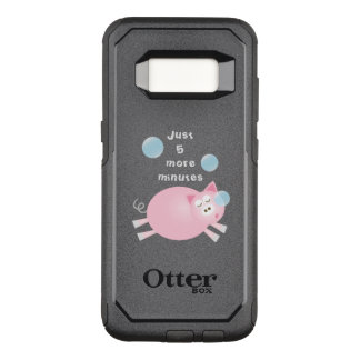 Funny Just Five More Minutes Dream Big Sleepy Pig OtterBox Commuter Samsung Galaxy S8 Case