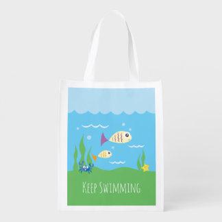 Funny Just Keep Swimming Underwater Ocean Fish